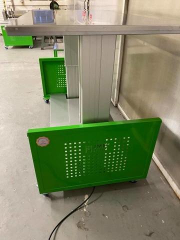 JMK system®ergonomický stůl pracovní plocha 900 x 1800 mm, nerezová pracovní plocha.